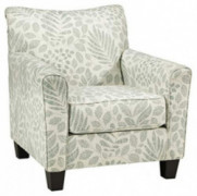 Signature Design by Ashley - Kilarney Elegant Floral Accent Chair, Mist Green