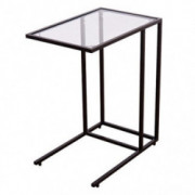 """GOFLAME 26"""" End Table with Solid Glass Portable Living Room Bedroom Office Dormitory Laptop Desk Sofa Side Table Snack Table"""