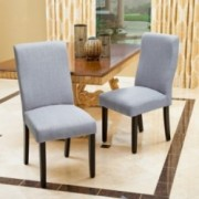 Heath Grey Fabric Dining Chairs (Set of 2)