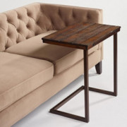 Wood Laptop Table for Couch Recliner and Sofa - Slide Under Couch Table Type That can be Used as Tray Table, tv Table, Servin