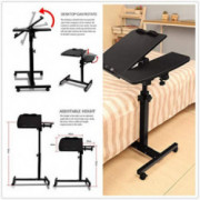 Laptop Desk Stand Adjustable Height, Tray Mobile Computer Desk, Home Office Sofa Side Table, 360° Rotation Sofa Side End Tabl