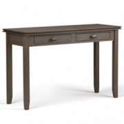 Simpli Home AXCHOL003-FG Artisan Solid Wood 46 inch wide Contemporary Console Sofa Table in Farmhouse Grey