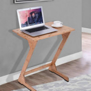 Bamboo Snack Table Sofa Couch Coffee End Table Bed Side Table Laptop Desk Modern Furniture for Home Office