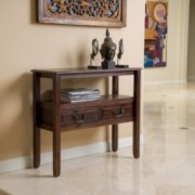 Noah Brown Mahogany Wood Accent Table