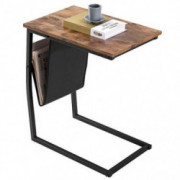 Industrial Side Table, BONZY HOME Mobile Snack Table Bed Side Table Laptop Sofa Couch Coffee End Tables for Living Room, Sofa