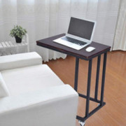 End Table Mobile Snack Table for Coffee Laptop Tablet, Slides Next to Sofa Couch, Wood Look Accent Furniture Coffee Table Hea