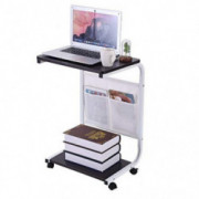 Sofa Side Table with Wheels Couch Table with Wheels for Home Room Office Food Table Tray Multi-Purpose Portable Rolling Desk