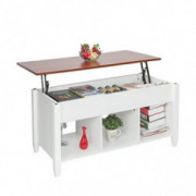 HomVent Lift-up Top Coffee Table,Wood & Metal End Table,Hidden Storage and Lift Tabletop Dining Table,Computer Table,Side Tab