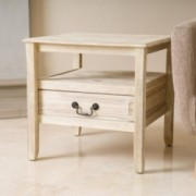 Noah Reclaimed Wood Short Drawer End Table