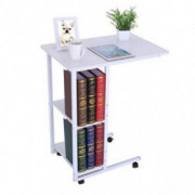 Sinwo Sofa Side Table with Wheels Bedside Laptop Table With Storage For Entryway Hallway Sofa Side Table for Home Office - Sh