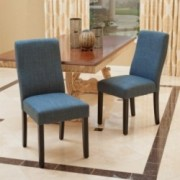 Heath Indigo Fabric Dining Chairs (Set of 2)