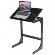 Tangkula Bamboo Sofa Side Table, 7 Angles Adjustable Couch Table End Table, Laptop Desk with Tilting Top & Stable Integrated