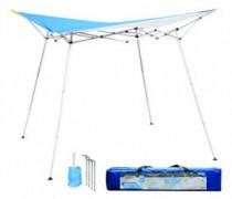 Caravan Canopy EVO08021 8 x 8 Evo Shade Instant, Blue Top/White Frame Canopy
