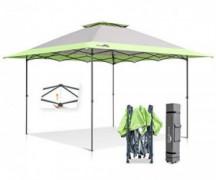 Eagle Peak 13x13 Straight Leg Pop Up Canopy Tent Instant Outdoor Canopy Easy Single Person Set-up Folding Shelter w/Auto Ex