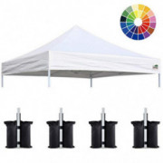 Eurmax New 10x10 Pop Up Canopy Replacement Canopy Tent Top Cover, Instant Ez Canopy Top Cover ONLY, Choose 30 colors,Bonus 4P