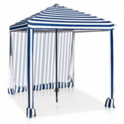 EAGLE PEAK 6 x 6 Portable Umbrella Canopy Cabana Easy Single Person Set-up Beach, Park, Pool, Backyard Instant Shelter w/Pr