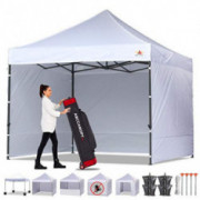 ABCCANOPY Canopy Tent Popup Canopy 10x10 Pop Up Canopies Commercial Tents Market stall with 6 Removable Sidewalls and Roller