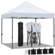 YAHEETECH 10 x 10 ft Pop Up Canopy Tent - Heavy Duty Commercial Event Tent Pavilion Portable Waterproof Canopy Folding Party
