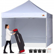 ABCCANOPY Canopy Tent 10x10 Pop Up Canopy Tent Commercial Instant Shade Tent with Upgrade Roller Bag, Bonus 4 Weight Bags, St