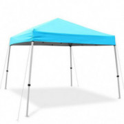 Ohuhu EZ Pop-Up Slant Leg Canopy Tent, 10 X 10 FT Reinforced Steel Frame Commercial Instant Shelter with 3 Adjustable Heights