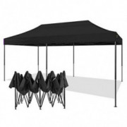 AMERICAN PHOENIX 10x20 Canopy Tent Pop Up Portable Instant Commercial Tent Heavy Duty Outdoor Market Shelter  10x20  Black