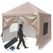 Quictent Privacy 8x8 Ez Pop up Canopy Tent Enclosed Instant Canopy Shelter Protable with Sidewalls and Mesh Windows Waterproo