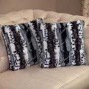Dahlia Faux Fur Zebra Print Throw Pillows (Set of 2)