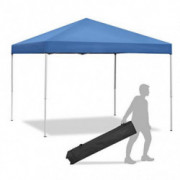 Smartxchoices Pop Up Canopy Tent - 10 x 10 FT Blue Foldable and Height Adjustable Outdoor Tent Sun Protection Canopy Beach Sh