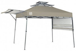 Quik Shade Summit 10 x 17-Foot Instant Canopy with Adjustable Dual Half Awnings, 170 Square Feet of Shade for 15 People - Tau