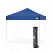 E-Z UP Pyramid Instant Shelter | PR3WH10RB | 10 by 10 Royal Blue | Portable Popup Tent W/ Upgraded Wide-Trax Roller Bag | 10