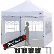 ABCCANOPY Tents Canopy Tent 10 x 10 Pop Up Canopies Commercial Tents Market stall with 3 Removable Sidewalls and 1 Door Wall