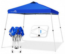 EAGLE PEAK 11 x 11 Slant Leg Pop Up Canopy Tent Instant Outdoor Canopy Easy Single Person Set-up Folding Shelter with 81 Sq