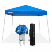 COOL Spot 10 x 10 Slant Leg Pop Up Canopy Tent  with 64 Square Feet of Shade  One Person Set-up Outdoor Instant Folding She