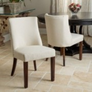 Rydel Natural Fabric Dining Chairs (Set of 2)