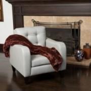 Bowdon Grey Leather Club Chair