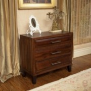 Glendora Mahogany Stained Finish Solid Wood Nightstand