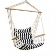 UHOM Hanging Hammock Swing Chair Patio Seat with Wood Stick Indoor/Outdoor
