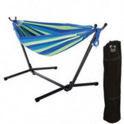 ONCLOUD Double Hammock with 9 FT Steel Stand Space Saving, Hammock Stands Heavy Duty Includes Portable Carrying Case for Outd