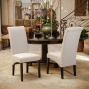 Morrow Beige Fabric Dining Chairs (Set of 2)
