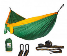 Ryno Tuff Camping Hammock - Double Hammock with Straps, Reinforced Not to Tear But Still Lightweight, Extra Pocket, Safe Tree