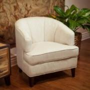 Camden Beige Fabric Tub Accent Club Chair