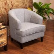 Camden Grey Fabric Accent Club Chair