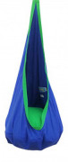 Kids Hanging Pod Swing Chair with Pocket, Hanging Hammock Cocoon, Indoor and Outdoor Fun, Reading Nook, Relaxation, Sensory a
