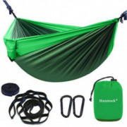 Double Hammock,Camping Hammock with 2 Tree Straps and 2 Carabiners, Lightweight Nylon Parachute Portable Outdoor Hammocks for