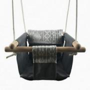 Indoor Outdoor Swing Chair for Baby, Cotton Baby Hammock Swing  Grey