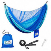 One Trail Gear Packable Hammock & Tree Straps | Hammock to Relax Or Sleep in | Lightweight & Durable | Mosquito Net