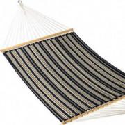 Caribbean Hammocks - Quilted Hammock  Charcoal & Grey Stripe