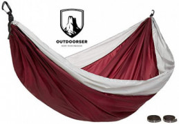 Outdoorser Micco Single Camping Hammock  Red/Grey