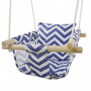Patio Canvas Hanging Swing Hammock for Toddler  Blue/White