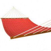 East Coast Hammocks Q8296 Large 2 Person Soft Polyester Quilted Hammock - Cherry Red